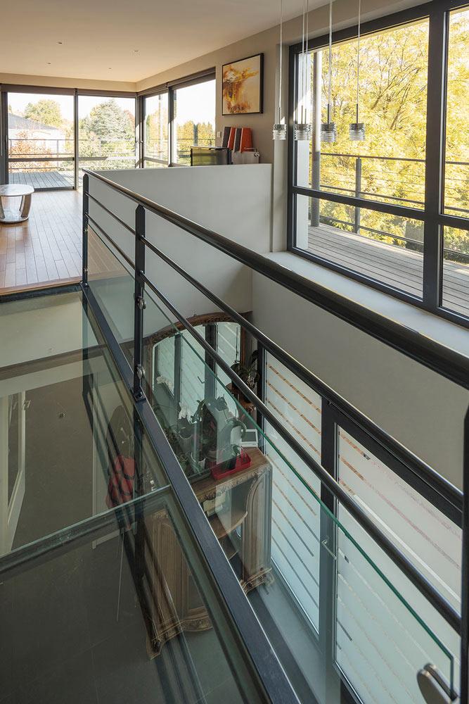 Baies vitrées : Baie vitrée sur étage complet
