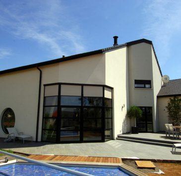 Baies vitrées - Vitrines, murs rideaux : Maison individuelle