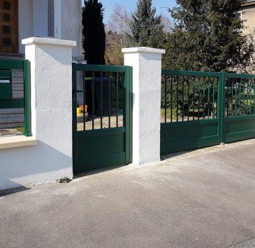 Éléments extérieurs : Clôture, portail et portillon de maison individuels