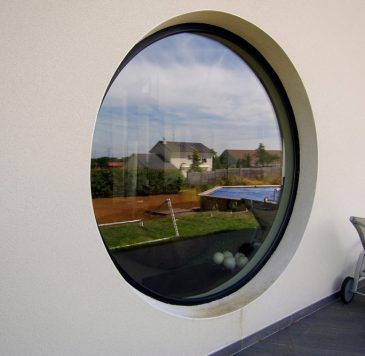Fenêtres, portes-fenêtres : Fenêtre profilé aluminium circulaire