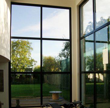 Vitrines, murs rideaux : Murs rideaux avec double vitrage teinté