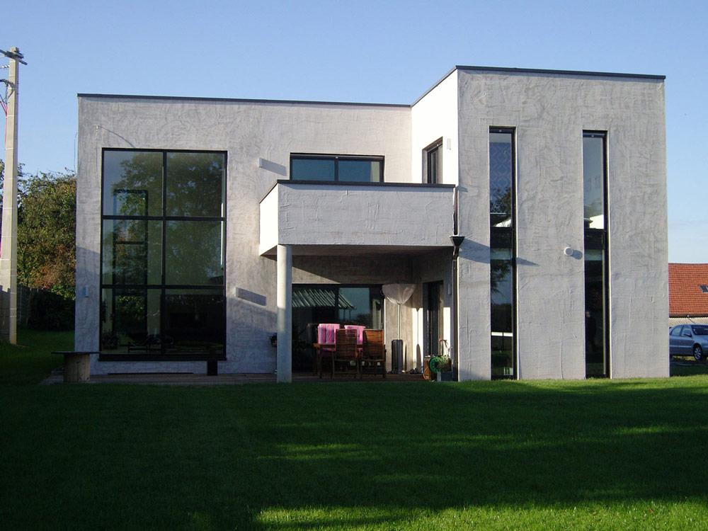Vitrines, murs rideaux : Murs rideaux sur maison d'architecte
